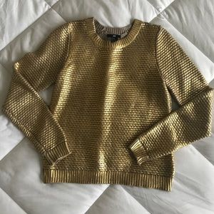 Beautiful gold-painted H&M sweater!